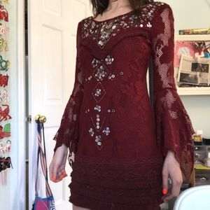 Beaded free people cocktail dress